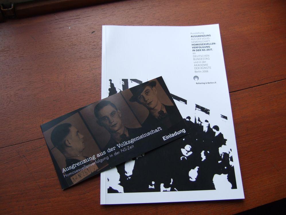 Ausstellung Homosexuellen-Verfolgung 1933-45 (Potsdam 2009)