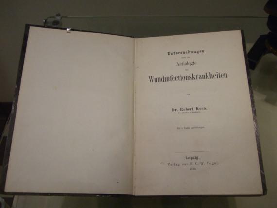 Robert Koch: Aetiologie der Wundinfectionskrankheiten, Leipzig 1878