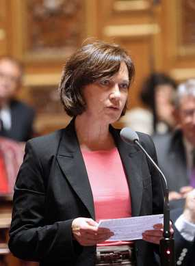 Laurence Rossignol, jetzt Ministerin des Ministerium für Familien , im Oktober 2012 (Foto: ALRPMN, Lizenz cc-by-sa 3.0)