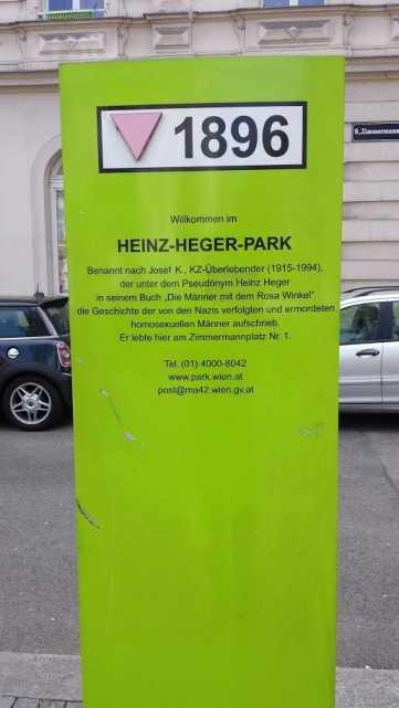 Heinz Heger Park Informationssäule
