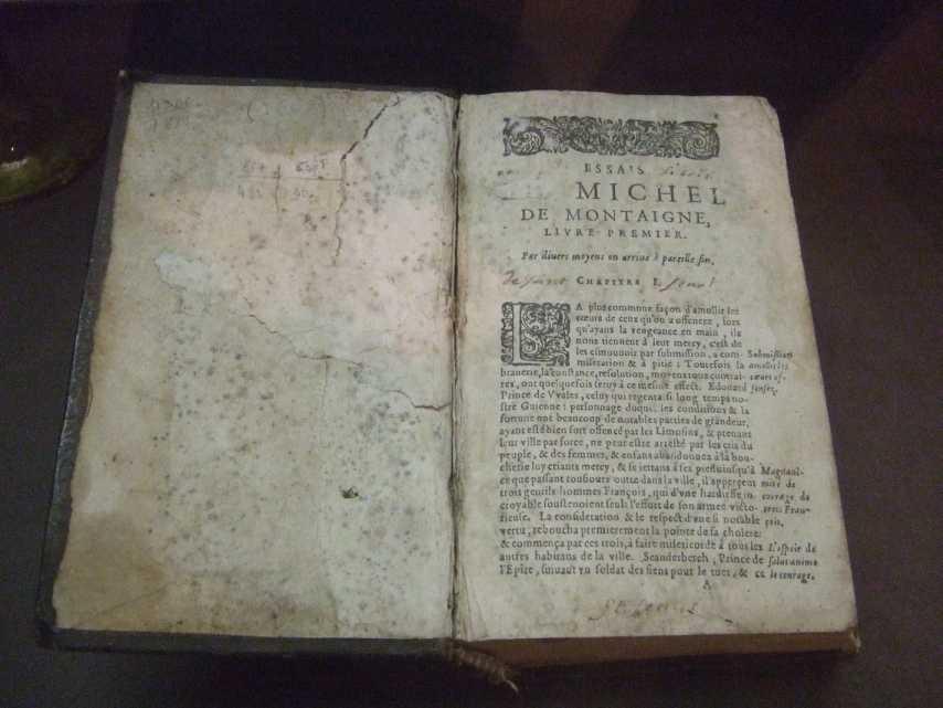 Michel de Montaigne Essais, erstes Buch, 1611