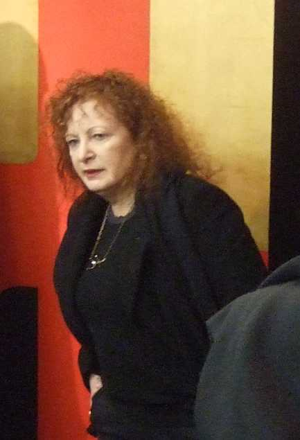 Nan Goldin, 1989 Kuratorin von Witnesses Against Our Vanishing, im Januar 2014 in der nGbK Berlin