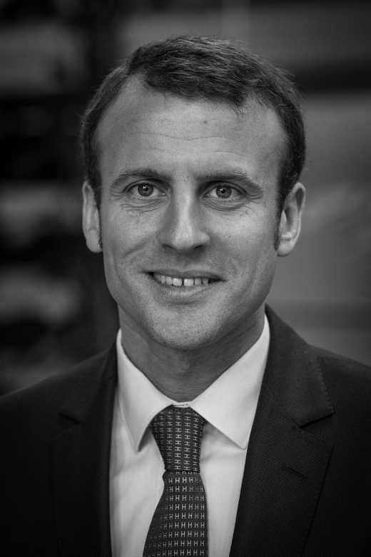 aussichtsreich bei der Präsidentschaftswahl Frankreich 2017 : Emmanuel Macron im April 2015 ( © Claude Truong-Ngoc / Wikimedia Commons)
