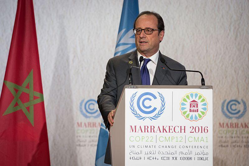 Francois Hollande 2016 in Marrakesch bei der UN Klimakonferenz (Foto: unfccc, Lizenz cc-by 2.0)