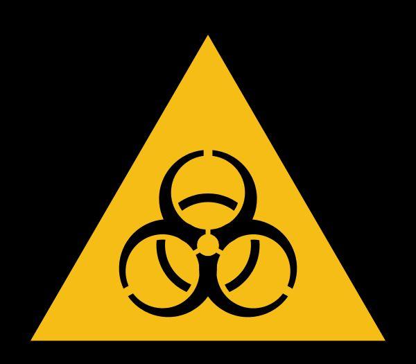 Biohazard Warnzeichen (MaxxL, public domain)
