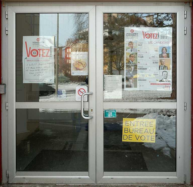 Konzept Vorwahl gescheitert ? - ein Wahllokal der Vorwahl der PS in Frankreich / Belfort (Photo: Thomas Bresson, Lizenz cc-by-4.0)