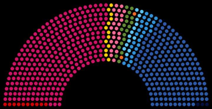 Sitzverteilung nach der Parlamentswahl Frankreich 2012 (Grafik üpixeltoo, Lizenz cc-by-sa 3.0)