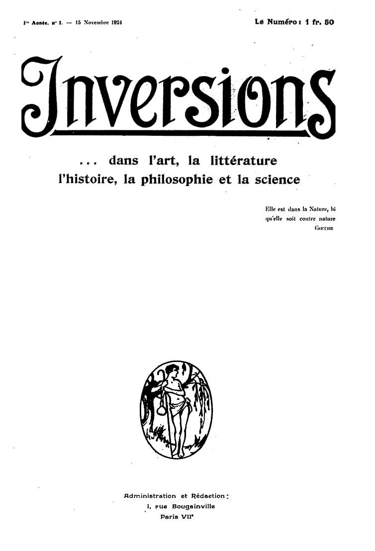 Inversions No. 1 November 1924 (Scan Spiessens, Lizenz cc-by-sa 3.0)