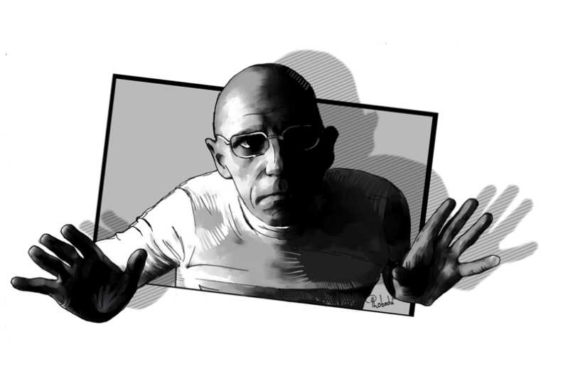 Michel Foucault portrait by Paul Loboda be.net/Loboda_Paul (Lizenz cc-by-sa 4.0)