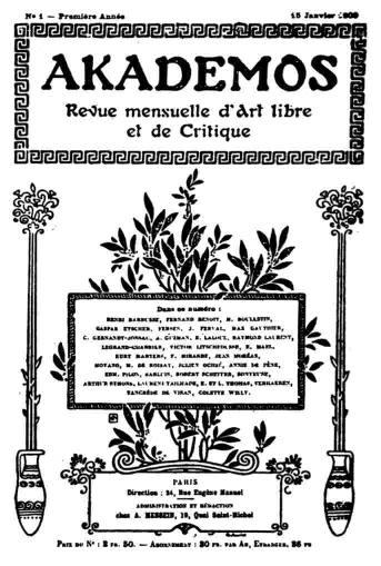 Akademos Ausgabe 1909 (public domain)