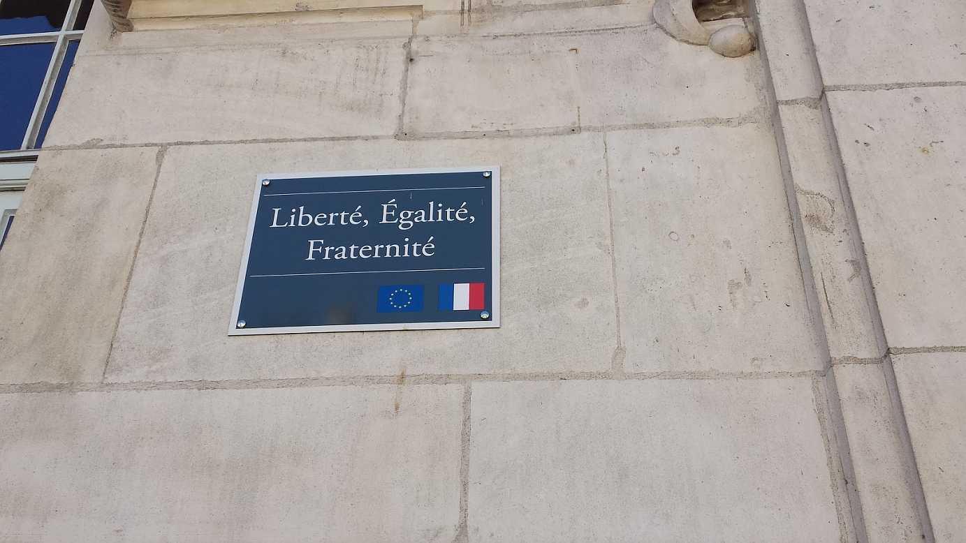 Liberté Egalité Fraternité - Freiheit Gleichheit Brüderlichkeit