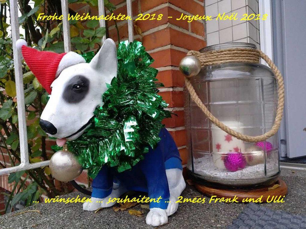 Frohe Weihnachten 2018 … Joyeux Noël 2018 …… wünschen … souhaitent … 2mecs Frank und Ulli