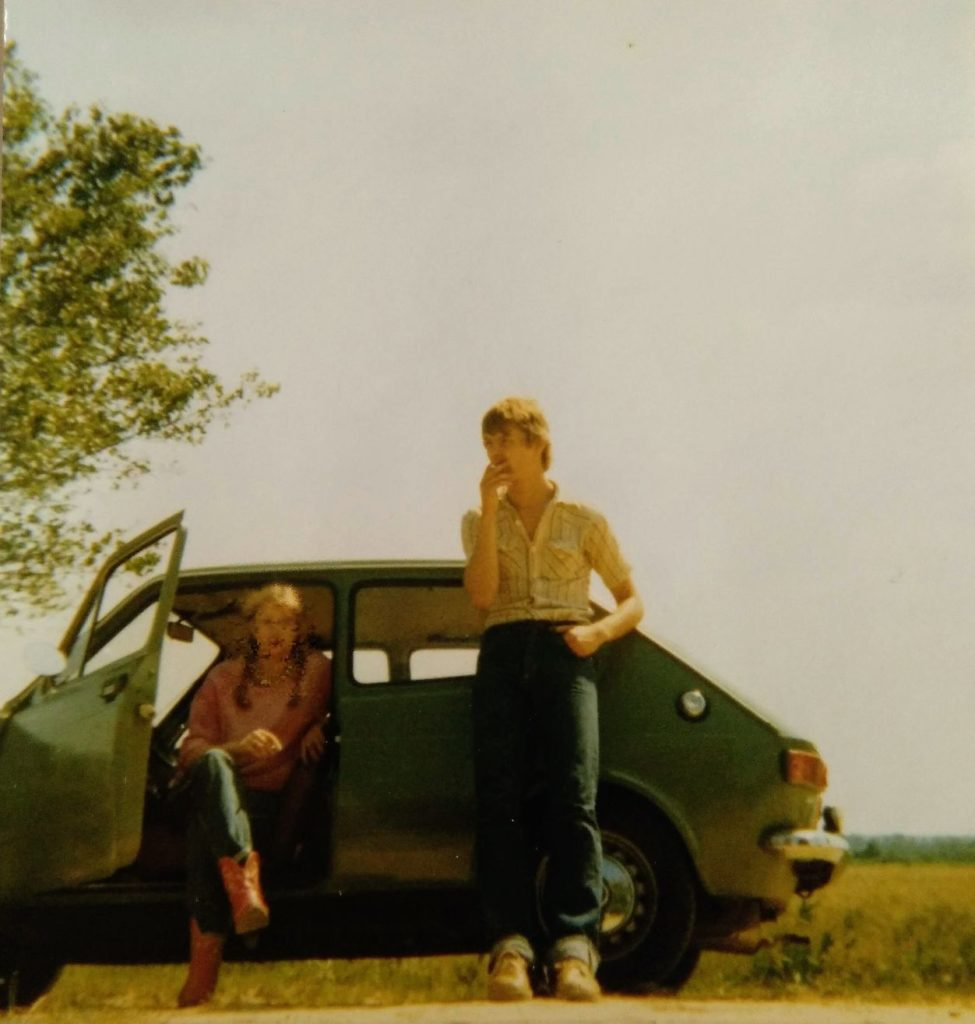 Ulli auf dem Land nahe Bremerhaven 1981