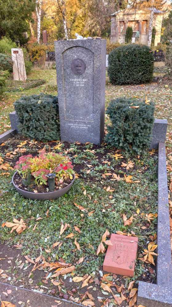 Grabstätte von Johannes Rau im November 2019