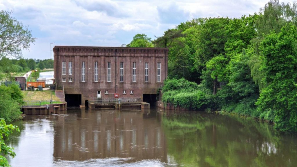 Hunte Wasserkraftwerk Oldenburg 1927