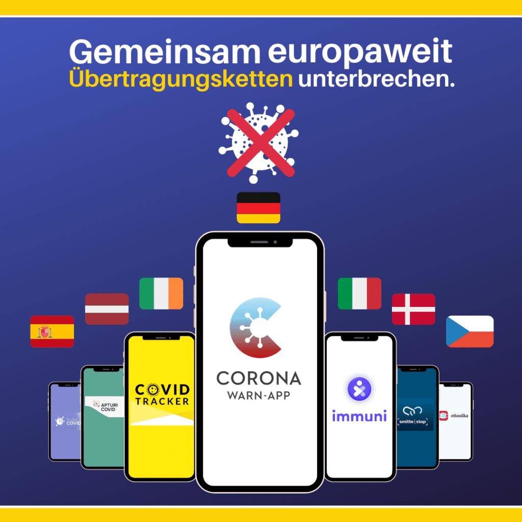 EU- Interoperabilität von Corona Tracing Apps - auch mit TousAntiCovid weiterhin ohne Frankreich (Grafik: EU-Kommission)