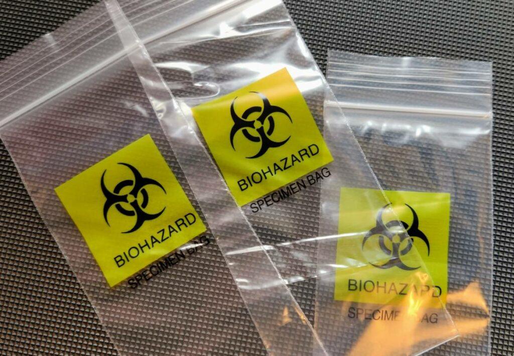 Biohazard Probenbeutel