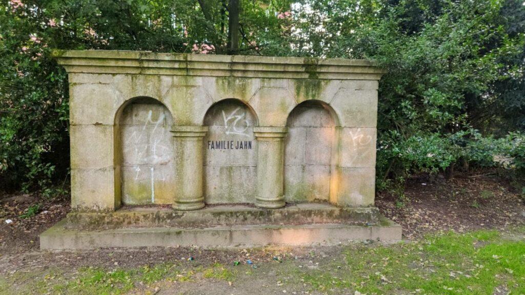 Grabstätte Familie Jahn Entwurf Hans Henny Jahnn